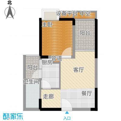 建工北城乐章40.34㎡一期单体楼面积4034m户型