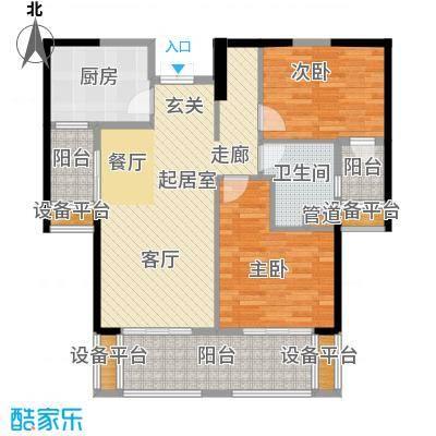 重庆天地雍江翠璟74.62㎡重庆天地雍江翠�一期4-面积7462m户型