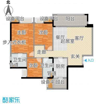 重庆天地雍江翠璟108.19㎡重庆天地雍江翠�一期4-面积10819m户型