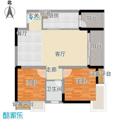 建工北城乐章62.95㎡一期单体楼面积6295m户型
