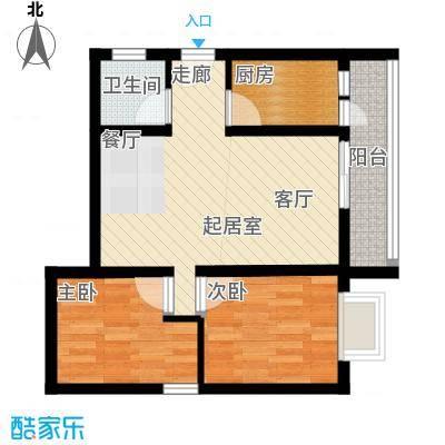 海宇依云香榭64.07㎡A7面积6407m户型