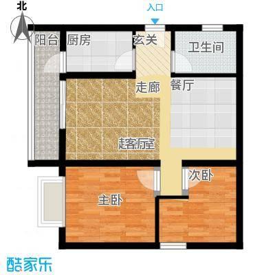 海宇依云香榭63.88㎡A6面积6388m户型
