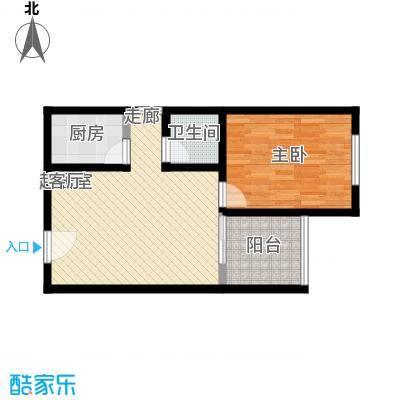 海宇依云香榭48.60㎡A2面积4860m户型