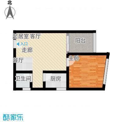 海宇依云香榭47.75㎡A3面积4775m户型
