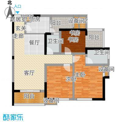 亲和佳苑116.00㎡二期B栋标准层3面积11600m户型