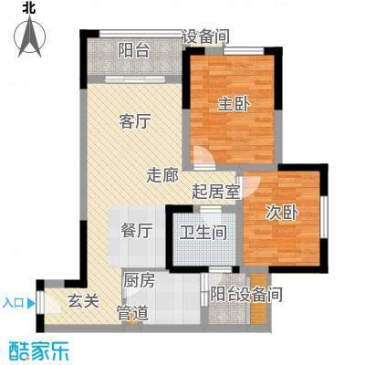 亲和佳苑82.00㎡二期B栋标准层4面积8200m户型
