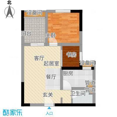 亲和佳苑56.40㎡二期B栋标准层5面积5640m户型