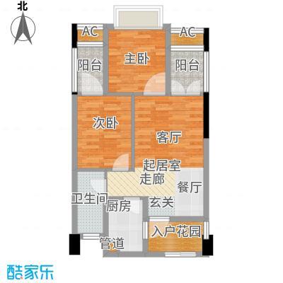 海航新街口54.56㎡A栋6、7号房面积5456m户型