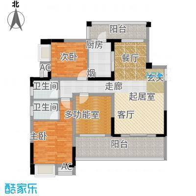 丽水菁苑栖景湾100.67㎡2号楼B型面积10067m户型