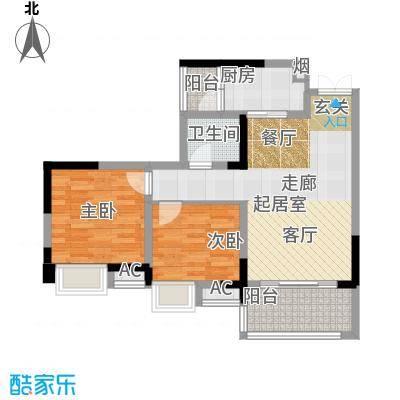 丽水菁苑栖景湾3号楼B1型户型