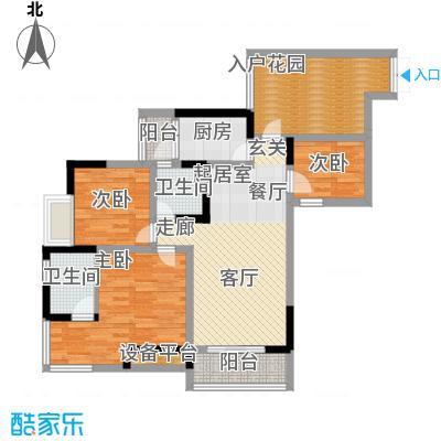 富士达锦绣格林77.20㎡3面积7720m户型