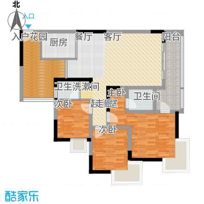富士达锦绣格林94.02㎡3面积9402m户型