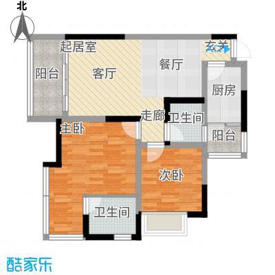 富士达锦绣格林68.22㎡2面积6822m户型