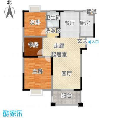 北江锦城103.00㎡三期D03栋标准层Gb1户型