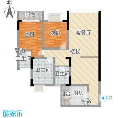 锦域蓝湾105.69㎡电梯洋房B栋2#面积10569m户型