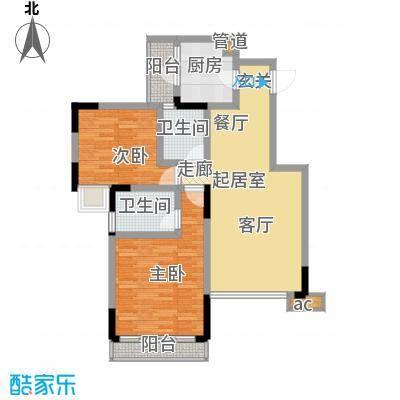 锦域蓝湾81.15㎡电梯洋房B栋1#面积8115m户型