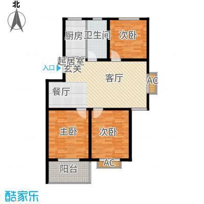 颐园世家98.08㎡二期20-28栋标准层C户型