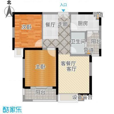 斌鑫丰泽园88.00㎡面积8800m户型
