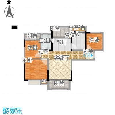 碧桂园欧洲城89.00㎡三期依云小镇标准层J246B户型