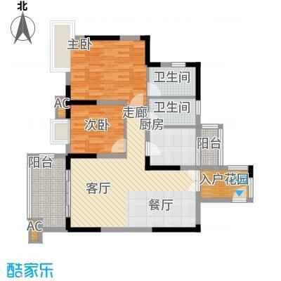 北城阳光今典80.90㎡4号楼7号房面积8090m户型
