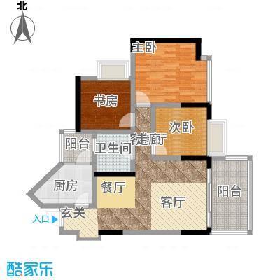 斌鑫丰泽园68.00㎡面积6800m户型