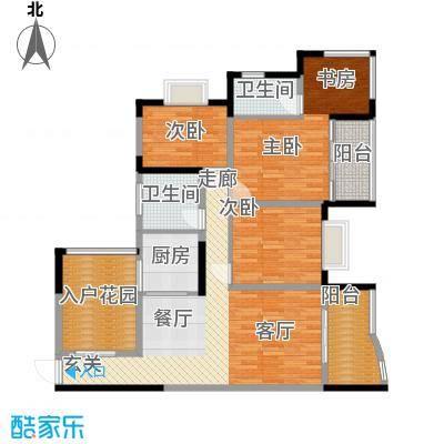渝安金港尚城96.07㎡B2面积9607m户型