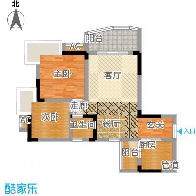 水务龙城天都67.10㎡3栋3、6号房面积6710m户型