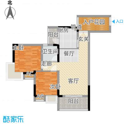 水务龙城天都74.90㎡1栋3、6号房面积7490m户型
