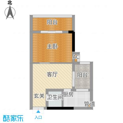 水务龙城天都38.16㎡1栋1、8号房面积3816m户型