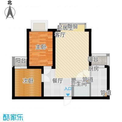 国宾豪庭52.00㎡D型1面积5200m户型