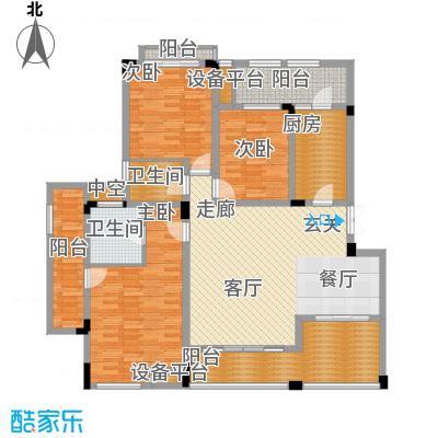 广厦城洛卡庄园114.06㎡B四层面积11406m户型