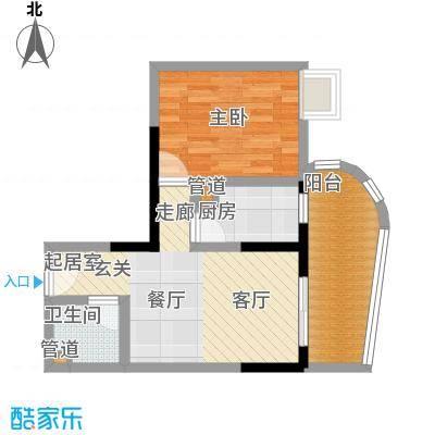 嘉韵山水城52.65㎡E型面积5265m户型