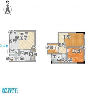 龙城国际69.38㎡一期标准层B2-L面积6938m户型