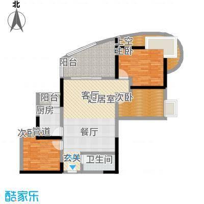 嘉韵山水城98.64㎡F型面积9864m户型