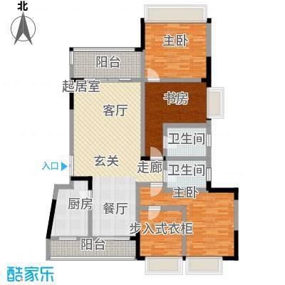 凤天锦园123.50㎡2面积12350m户型