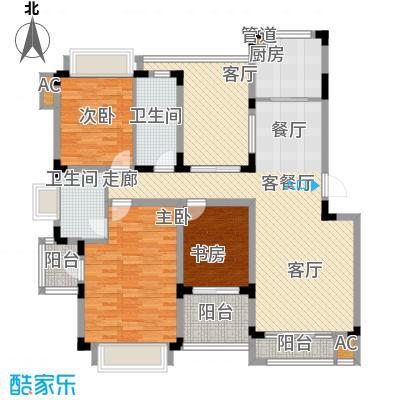 同景国际城恋山104.10㎡B5F2面积10410m户型