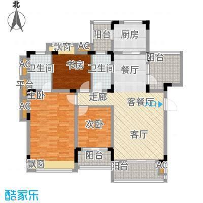 同景国际城恋山105.50㎡E3F2面积10550m户型