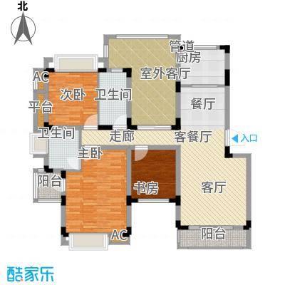 同景国际城恋山105.75㎡B2F2面积10575m户型