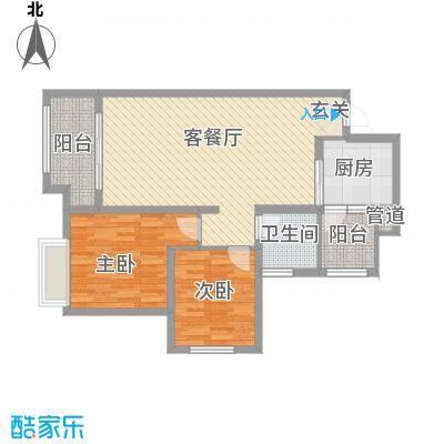 协信彩云湖96.00㎡面积9600m户型