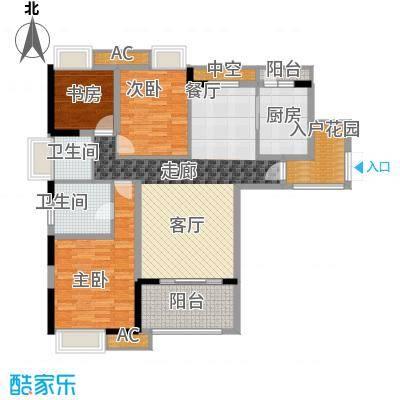 协信彩云湖84.00㎡面积8400m户型