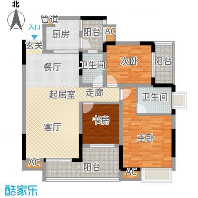 红树林100.91㎡3期5号楼H面积10091m户型