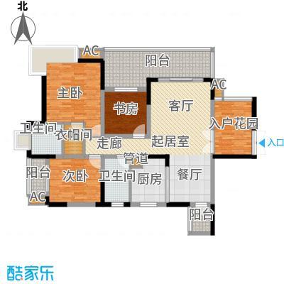 红树林105.82㎡3期5号楼F面积10582m户型