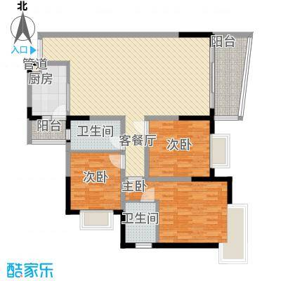 港城凤鸣香山100.79㎡6号楼2面积10079m户型