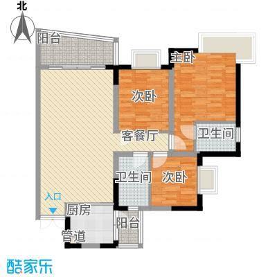 港城凤鸣香山92.84㎡5号楼凤祥阁面积9284m户型