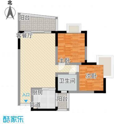 港城凤鸣香山71.37㎡5号楼凤祥阁面积7137m户型