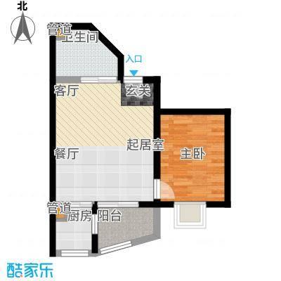 康翔花园55.00㎡面积5500m户型