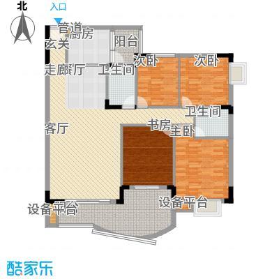 尚阳康城121.00㎡D12面积12100m户型