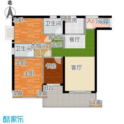 晋愉绿岛翡冷翠107.00㎡面积10700m户型