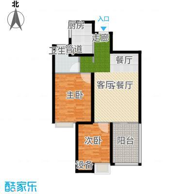 晋愉绿岛翡冷翠95.00㎡面积9500m户型