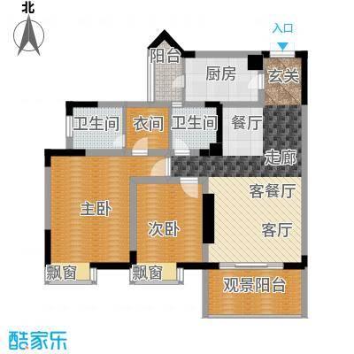 枫丹树语城89.47㎡(售罄)面积8947m户型